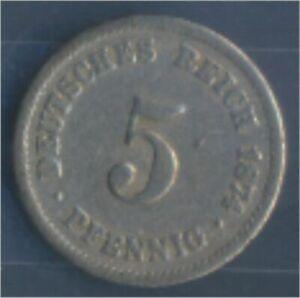 German-Empire-Jagerno-3-1874-A-very-fine-Copper-Nickel-1874-5-Pfennig-7849148