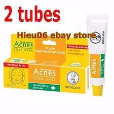 2 Tubes Mentholatum Acnes Scar Mark Spot Care Transparent Gel Acne Treatment