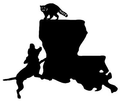 Vinyl Truck Raccoon Window Stickers,Graphic Coon Hunting Louisiana State Decal