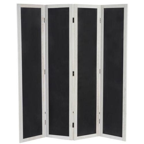 Raumteiler Trennwand Sichtschutz Paravent Kreide 155x137x2cm Tafelfunktion