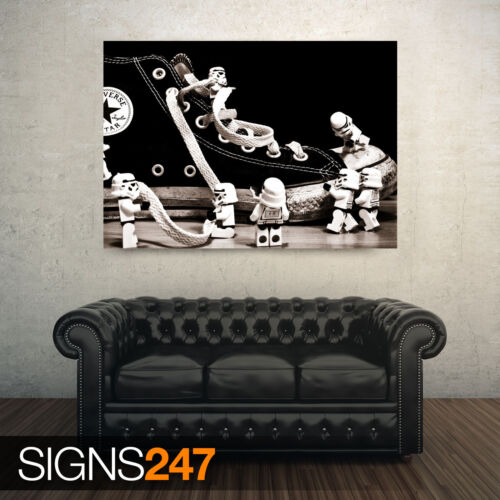 FUNNY POSTER Photo Poster Print Art * All Sizes AD413 STORMTROOPER CONVERSE