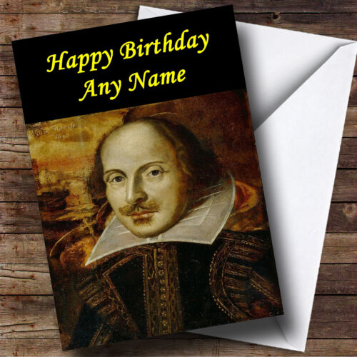 William Shakespeare Personalised Birthday Greetings Card