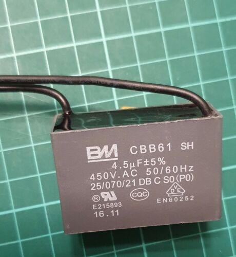 CBB61 motor fan start running capacitor 4.5 uF 450V UK seller ref:xxx