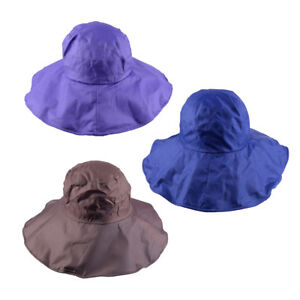 33d24cd29b02d Women s Rain Hats Waterproof Hat Wide Brim Bucket Hat Cap Sun SPF 50 ...