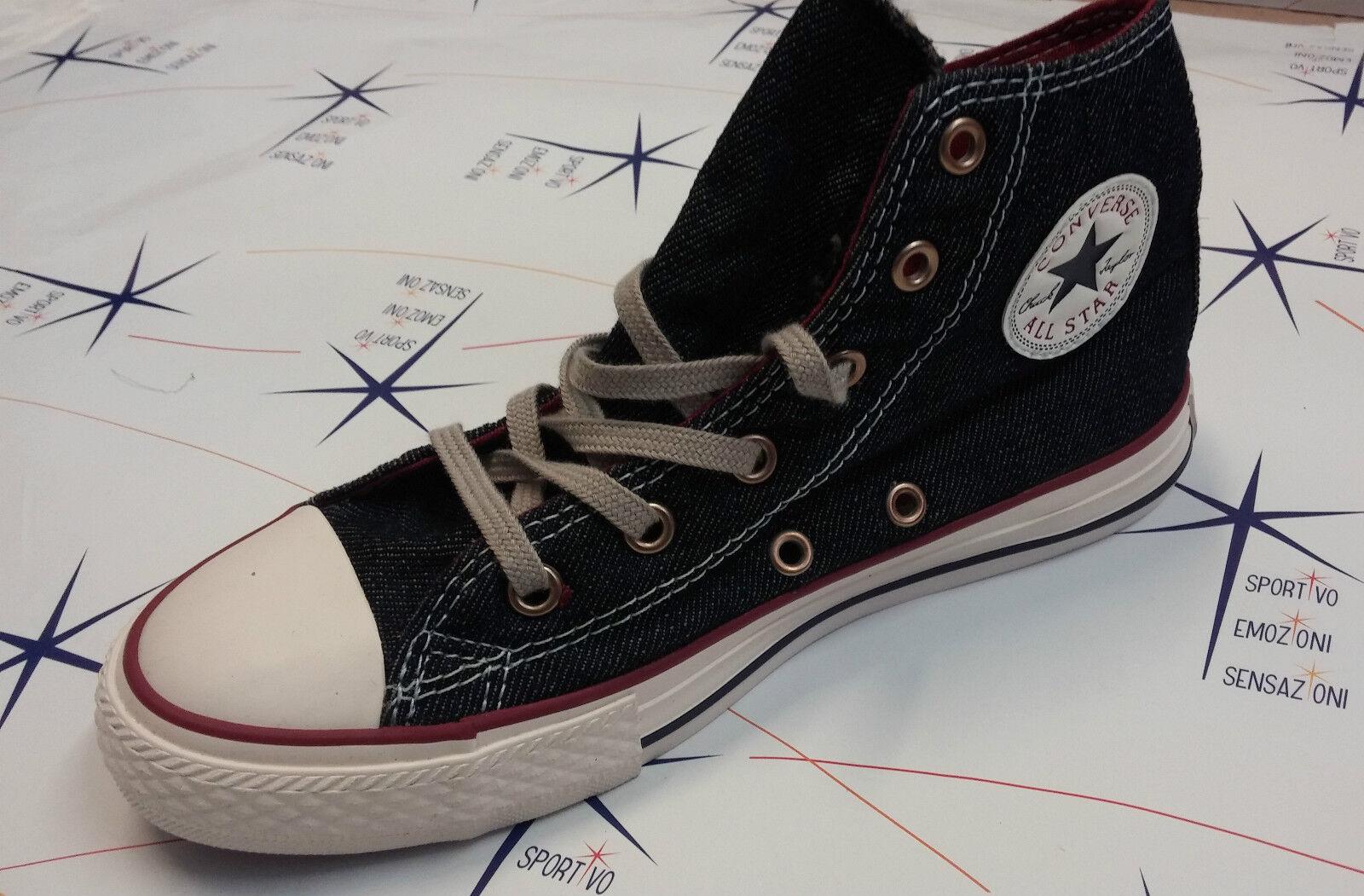 Scarpa Converse All Denim Star Hi Alte -- Denim All Jeans Tela Canvas -- 148460C 386 463410