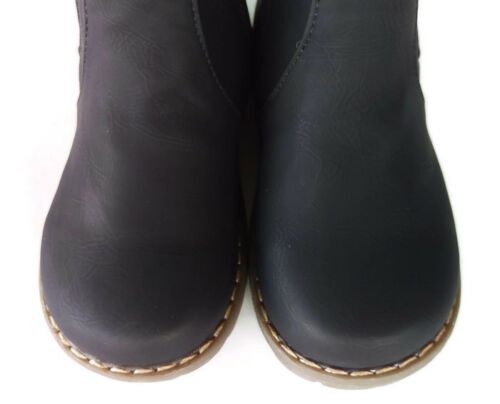 New Kids Boots zip up black appx 2-6yr child toddler boy girl shoes leather