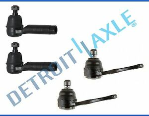 4PC Front Lower Ball Joints Outer Tie Rod Ends For 98-04 Kia Spectra Sephia 1.8L