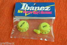 Boutons IBANEZ guitare Knobs JEM VAI universe RG JAUNE YELLOW OLD STOCK GENUINE