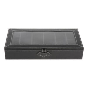Durable-Eyeglass-Storage-Box-Sunglass-Glasses-Display-Case-Organizer-Black