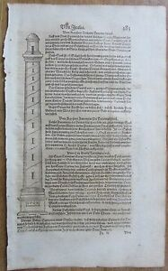 MÜNSTER/MUNSTER: Cosmographia Column of Trajay Rome Italy - 1628