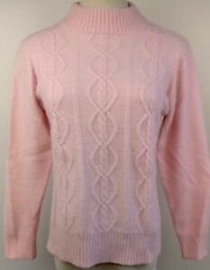 VTG-80s-Pastel-Pink-Sweater-Girl-Fuzzy-Angora-Cable-Knit-Preppy-Fairy-Kei-M