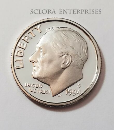 1994 S ROOSEVELT *90/% SILVER PROOF* DIME **FREE SHIPPING**