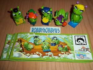 CRICKETS COMPLETE SET WITH ALL PAPERS KINDER SURPRISE 2013 FERRERO