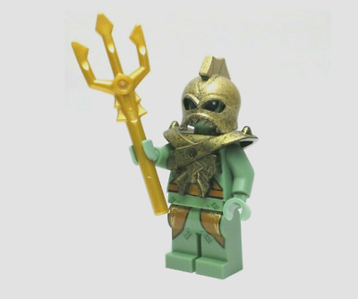 NEW Lego Atlantis Portal Emperor GOLD BATTLE HELMET Castle Minifig Headgear 8078