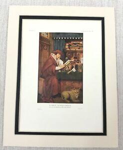 1927 Antique Print Dutch Old Master Portrait St Jerome Portrait Petrus Christus