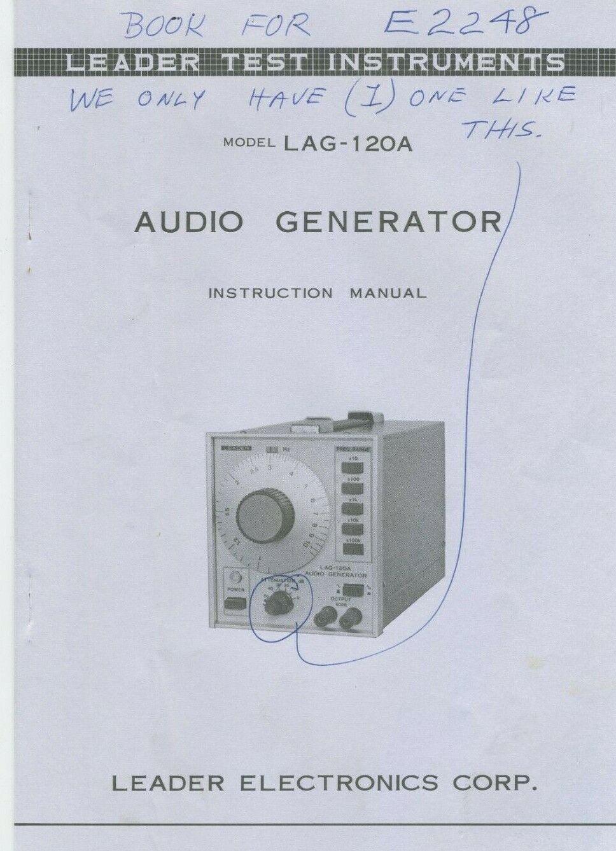 Leader lag-12b audio generator in stock, we buy sell repair.