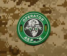 3D PVC Operator As F**k OAF Nation MARSOC Raiders USMC Morale Patch VELCRO®