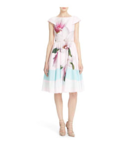 edb9a9e9f44 Image is loading TED-BAKER-039-BROMLIE-039-FLORAL-FIT-FLARE-