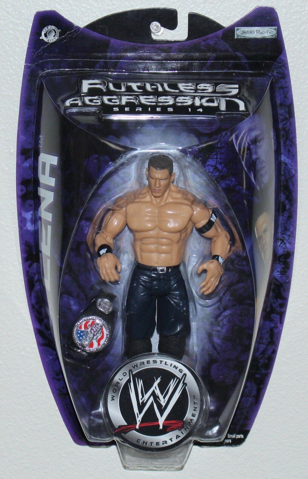 WWE Ruthless Aggression Series Action Figure John Cena 2005 US Champ Belt Jakks