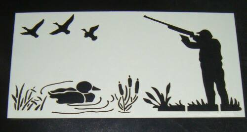 Shooting Duck Pond Cake craft decorating stencil  Airbrush Mylar Polyester Film