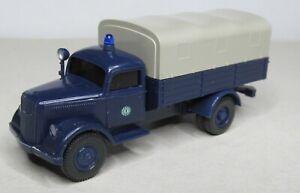 Wiking-1-87-Opel-Blitz-camastro-con-lona-policia-Berlin-especial-de-color-azul-acero
