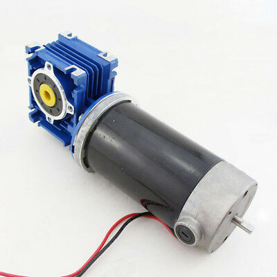 1PCS DC12V 24V Turbo Worm Gear Motor GW80170 With Tail Shaft Large Torque