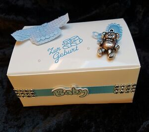 Zur Geburt Taufe Geschenkbox Rosa Oder Hellblau Geldgeschenke