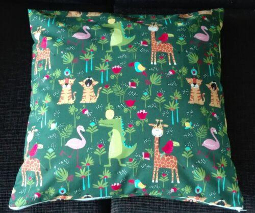 Kissenhülle Kissenbezug 40x40 cm Giraffe Tiger Flamingo Kinderkissen Handarbeit