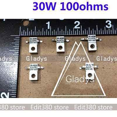 5x RF Last Widerstand Microwave Resistor Dummy Load ALCATEL 39-4696 30W 100ohms