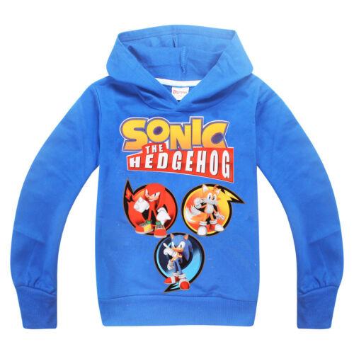 Cartoon Sonic Le Hérisson Garçon à Capuche à Manches Longues Top printemps et automne Wear