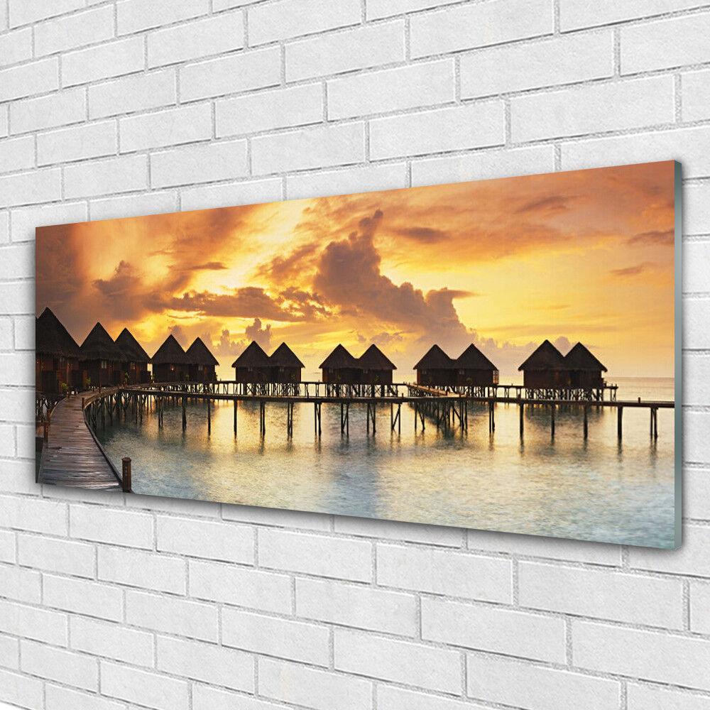 Acrylglasbilder Wandbilder aus Plexiglas® 125x50 Südsee Urlaubshäuser