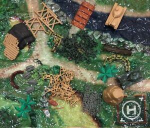 Mini-Plastic-Army-Men-Figures-Soldiers-Toy-Tanks-Weapons-Kits-90-Pcs-Carry-Case