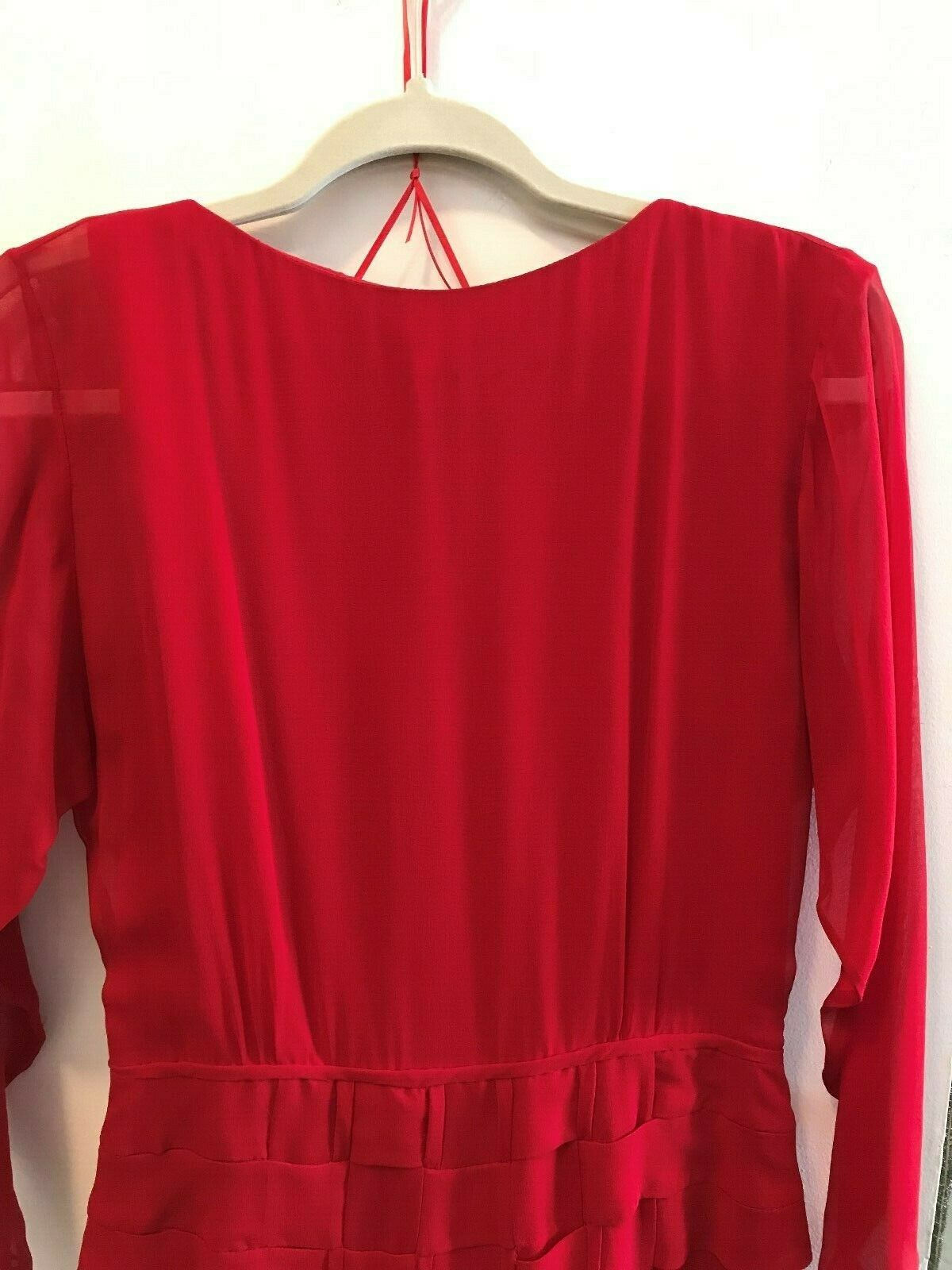 Vintage 80s Holly Harp Red Silk Gown - image 9