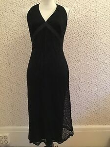 Marks-amp-Spencer-Autograph-New-York-Black-Lace-Dress-Size-8-10
