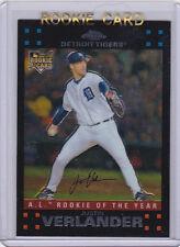 JUSTIN VERLANDER Topps Chrome ROOKIE CARD Detroit Tigers Baseball 2007 MLB RC!