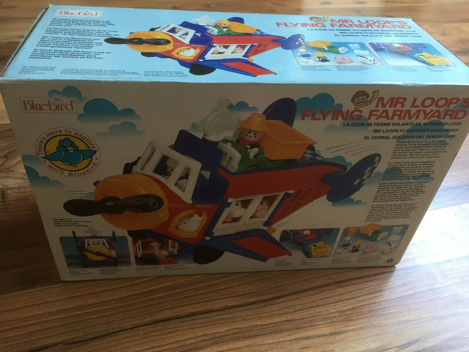VINTAGE blueEBIRD MR LOOPS FLYING FARMYARD SET BOXED NEW