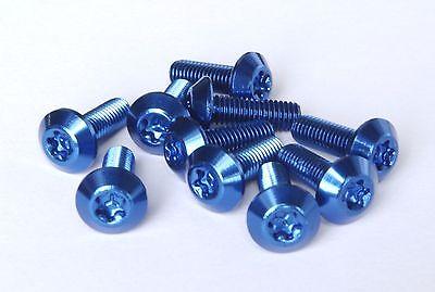 10 Stück Aluminium Schraube 7075 M5x15 T25 Torx Aluschrauben blau Flaschenhalter
