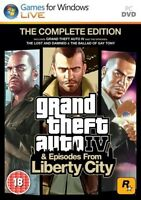 Gta 4 Grand Theft Auto Iv & Episodes From Liberty City Complete Edition (pc Dvd)