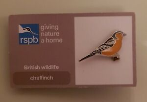 Brand-New-034-RSPB-CHAFFINCH-034-Pin-Badge-FREE-POST-SAME-DAY-DISPATCH
