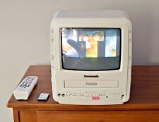 "Panasonic 9"" TV VCR Combo PV-M949W w 2 Remote White"