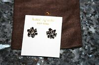 Kate Spade 14 K Gold Fill Bourgeois Silver Bow Stud Earrings