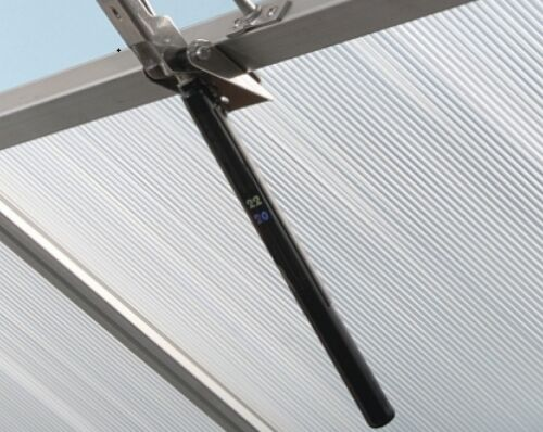 Dachlüfter rostfrei mit Thermometer Gewächshaus Vitavia autom Fensterheber f