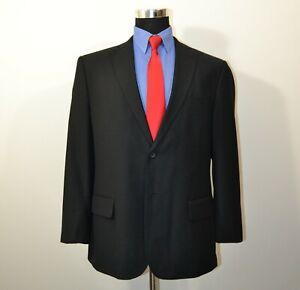 Geoffrey-Beene-44S-Sport-Coat-Blazer-Suit-Jacket-Black-Polyester-Blend
