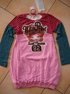 (817) Nolita Pocket Girls Materialmix Kleid Mit Logo & Mädchen Aufnäher Gr.104 SorgfäLtige Berechnung Und Strikte Budgetierung