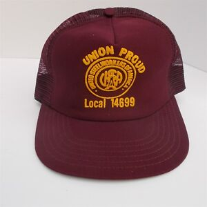 f409b1a3f5c Image is loading Vintage-UNITED-STEELWORKERS-UNION-Trucker-Cap-Hat-SNAP-