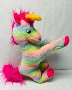 Vintage-Unicorn-Plush-Rainbow-Pastel-Kawaii-Stuffed-Animal-Superior-Toy-Co