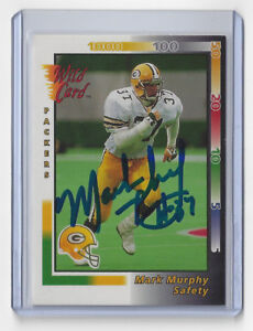 1992-PACKERS-Mark-Murphy-signed-card-Wild-Card-56-AUTO-Autographed-Green-Bay