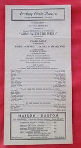 1939-PLAYBILL-CATHAY-CIRCLE-THEATRE-L-A-GONE-WITH-THE-WIND-CLARK-GABLE-V-LEIGH