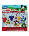 Mickey Mouse Swirl Hanging Birthday Party Decorations 12 Piece Set