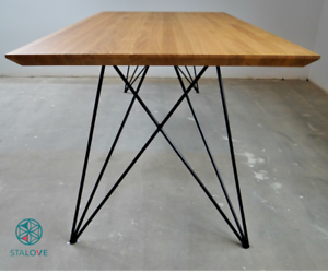 steel dining table legs set of 2 butterfly metal table legs rh ebay com metal table legs ikea metal table legs lowes